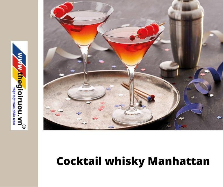 Cocktail whisky Manhattan