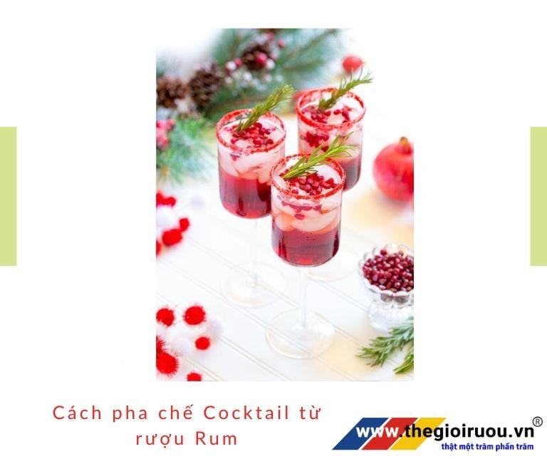 Cách pha chế Cocktail tù rượu Rum