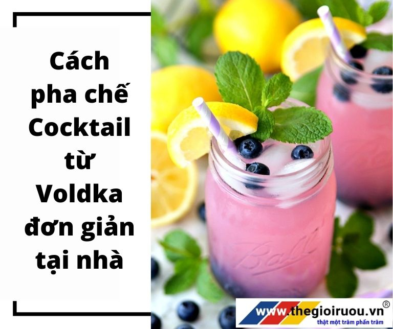Cách pha chế Cocktail từ Vodka đơn giản tại nhà