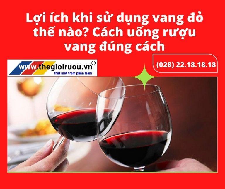 Lợi ích khi sử dụng vang đỏ thế nào? Cách uống rượu vang đúng cách