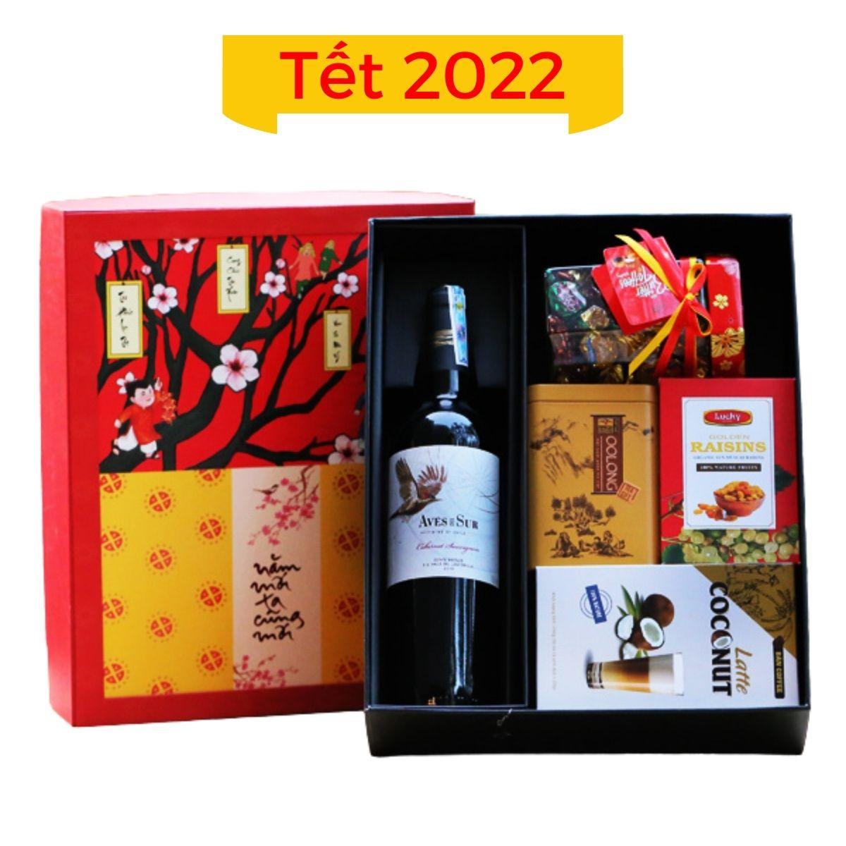 Hộp quà Tết 2022 mẫu 02